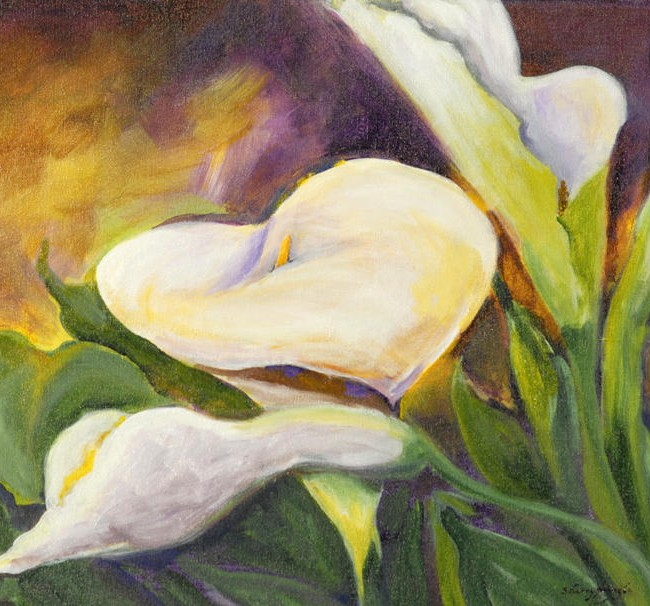 Lily White, Acrylic on Canvas