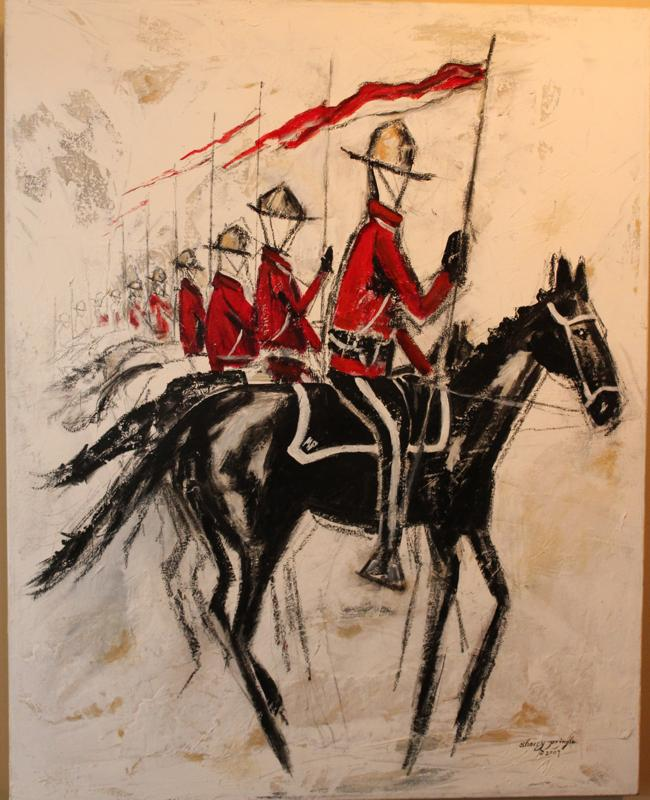 Musical Ride, Mixed Media