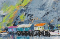Newfoundland Wharf, Acrylic on Canvas